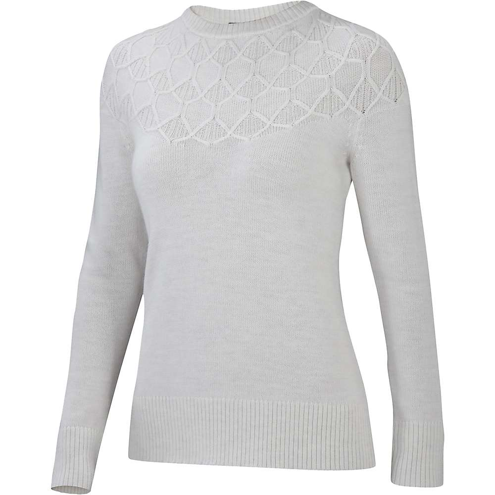 Ibex Women's Serenade Sweater - Medium - Birch Heather