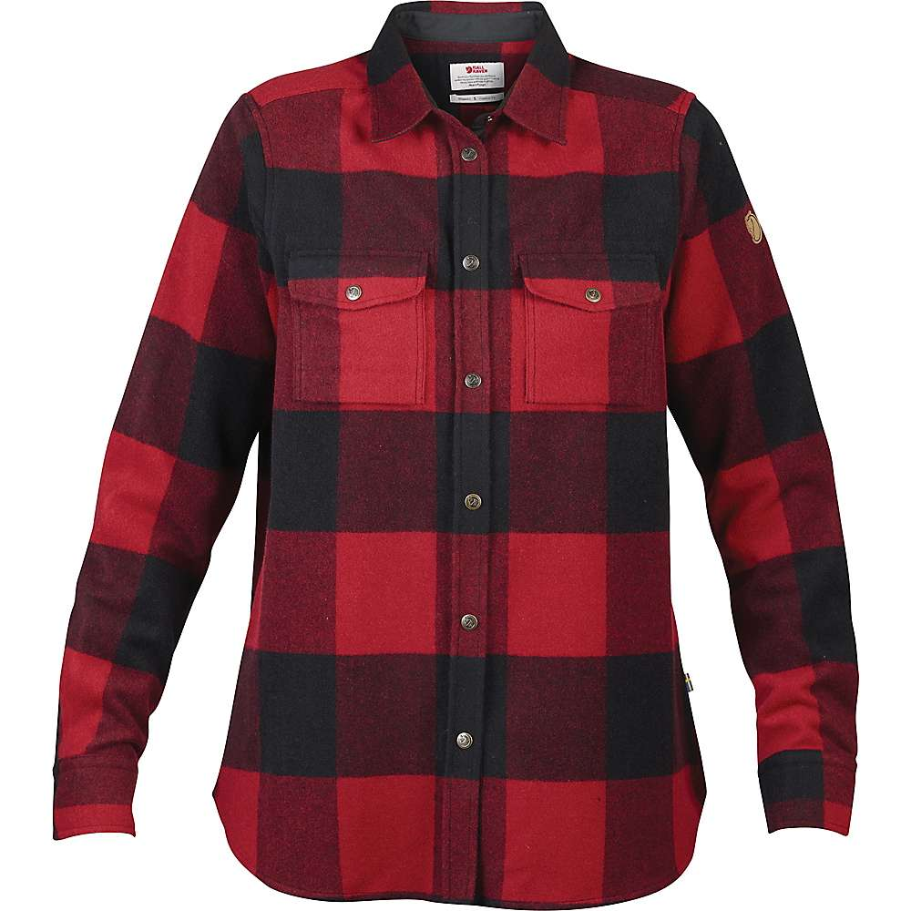Fjallraven Women's Canada LS Shirt - Large - Red