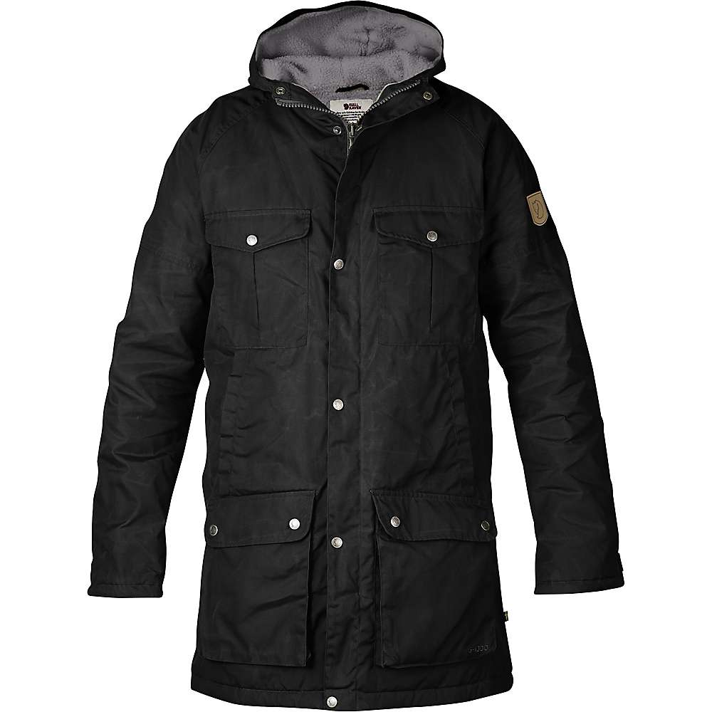 Fjallraven Men's Greenland Winter Parka - Large - Black / Grey