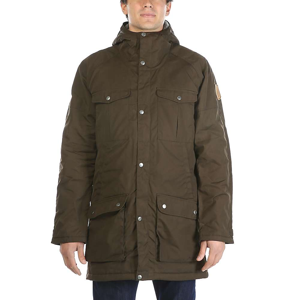 Fjallraven Men's Greenland Winter Parka - Large - Dark Olive / Grey