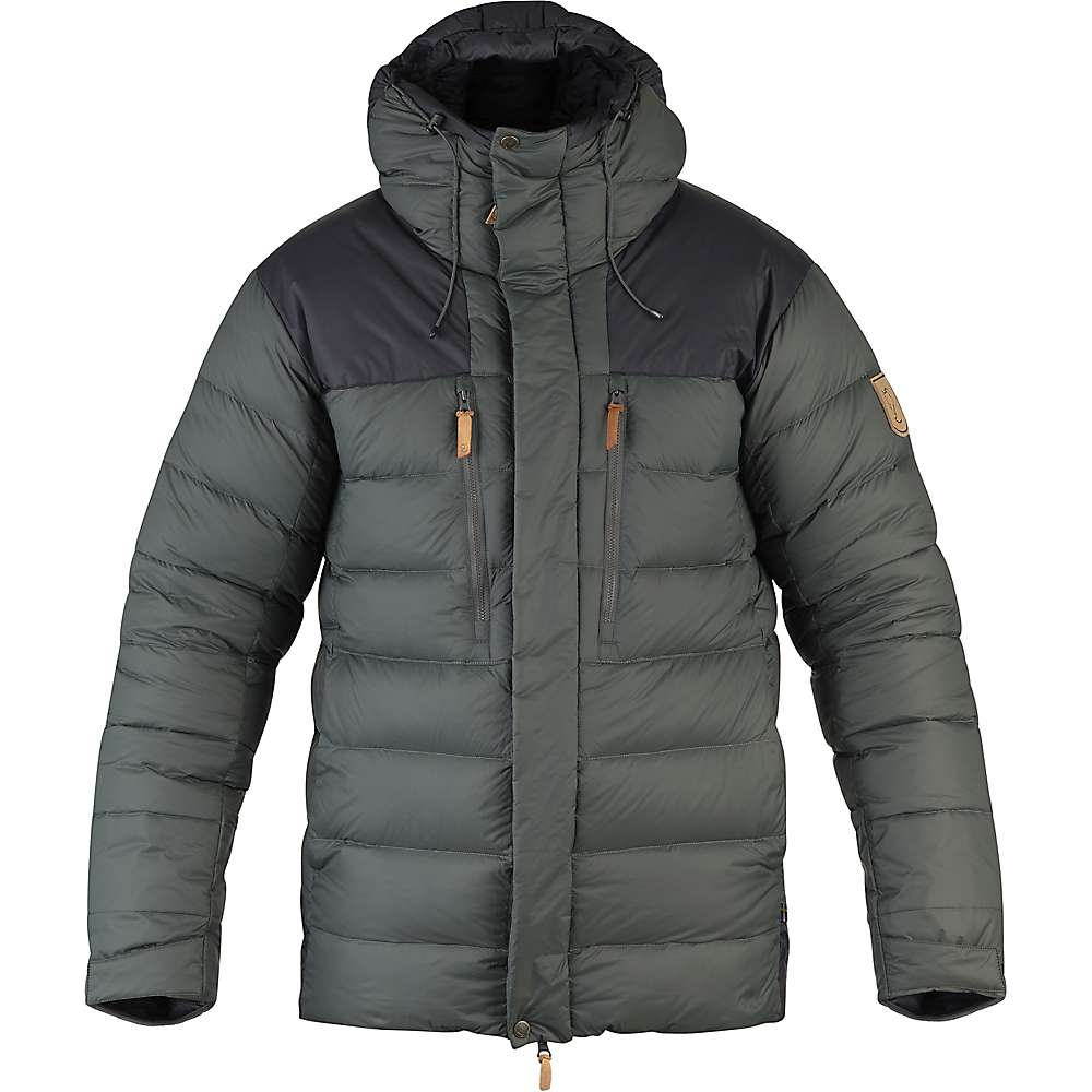 Fjallraven Men's Keb Expedition Down Jacket - Small - Stone Grey / Black