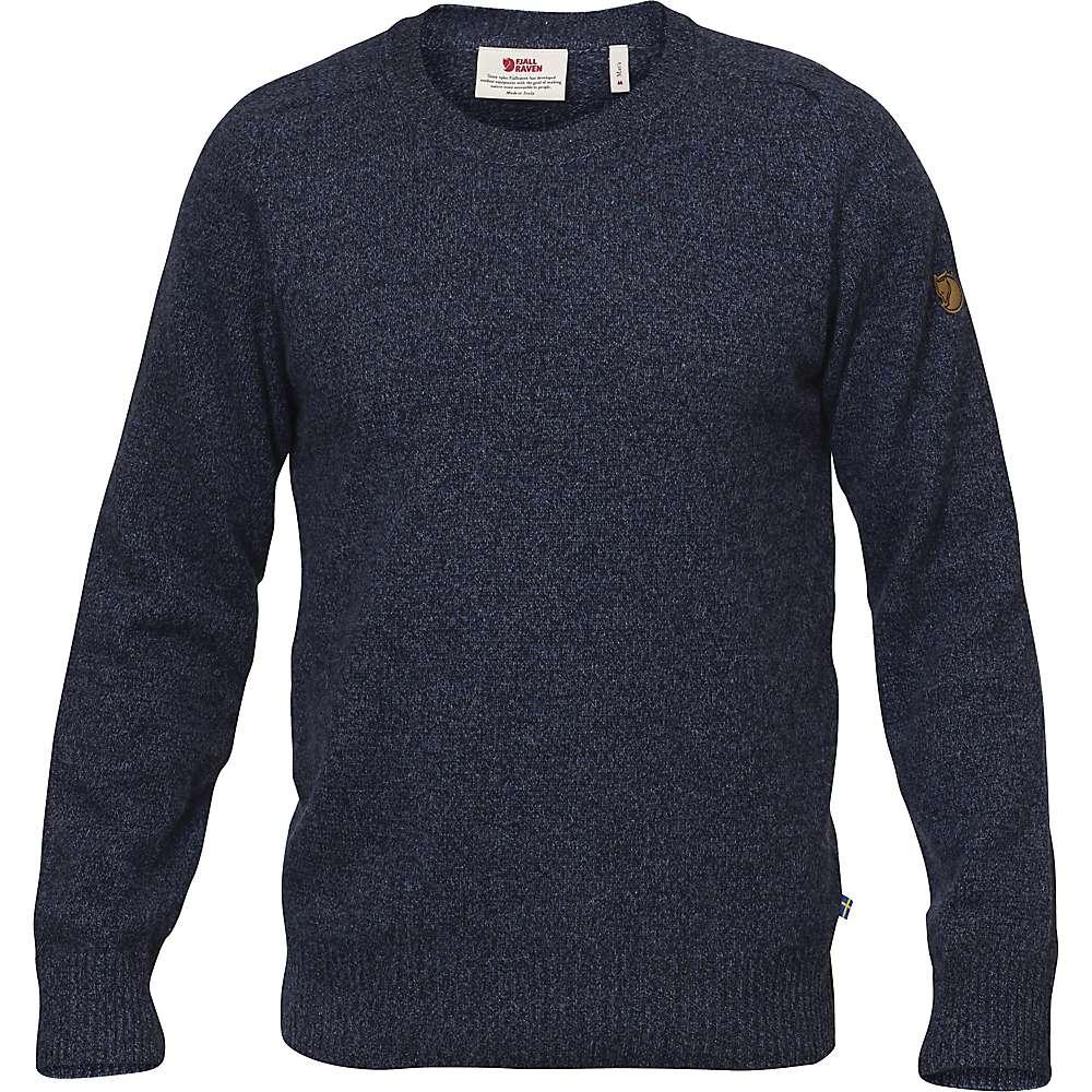 Fjallraven Men's Ovik Re Wool Sweater - Small - Dark Navy