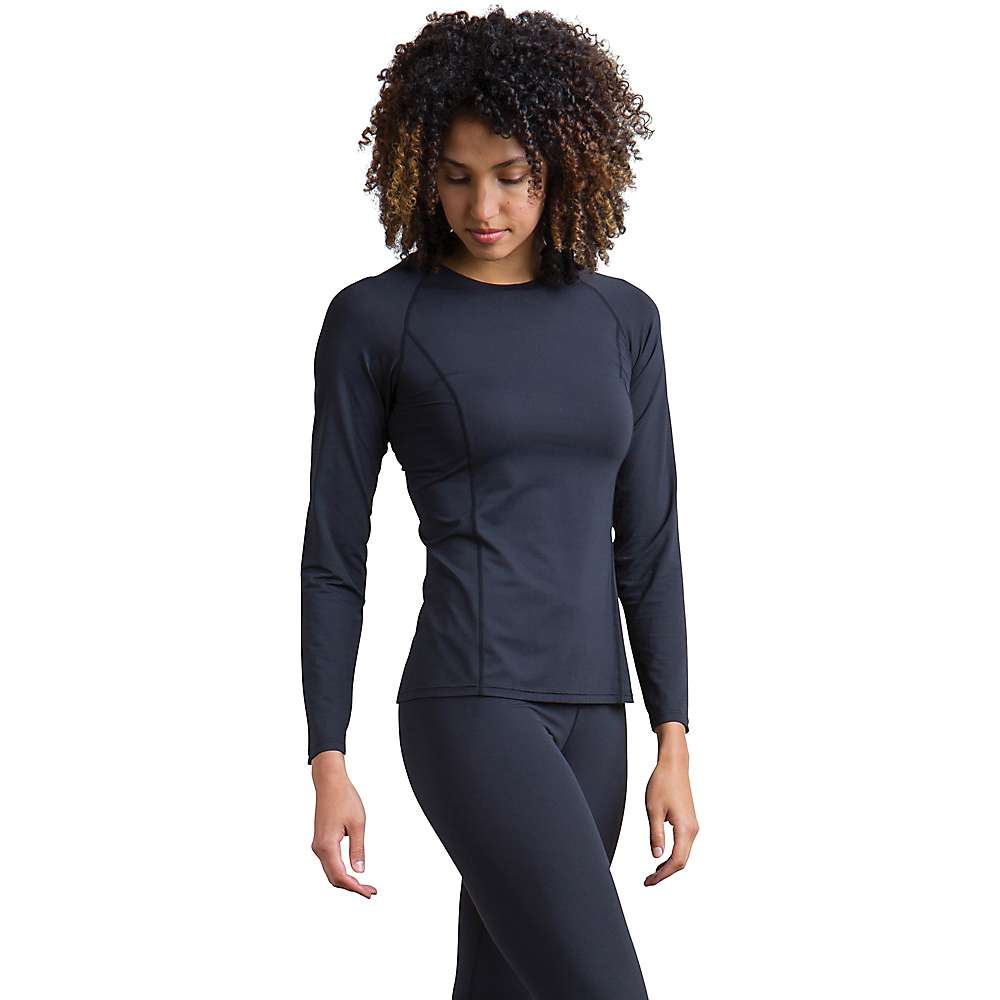 ExOfficio Women's Give-and-Go Performance Base Layer Crew – XS – Black