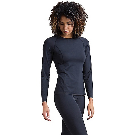 ExOfficio Women's Give-and-Go Performance Base Layer Crew Black