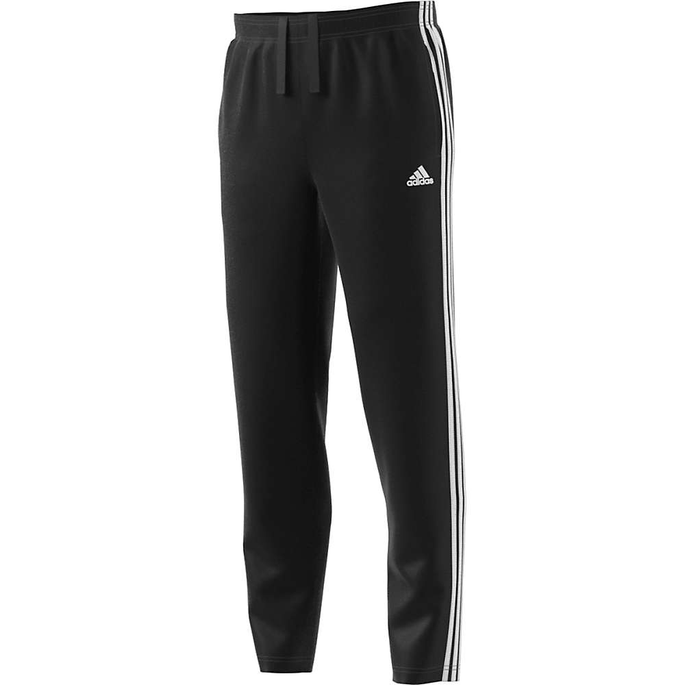Adidas Men's Essential 3S Tapered Fleece Pant - Medium - Black / White
