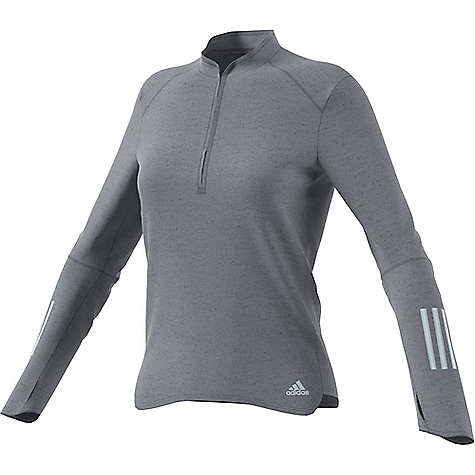 Adidas Women's Response LS Zip Tee Grey Adidas Women's Response LS Zip Tee - Grey - in stock now. FEATURES of the Adidas Women's Response Long Sleeve Zip Tee Reflective stripes so you want to run in the dark Climalite keeps your body dry by drawing sweat away from the skin