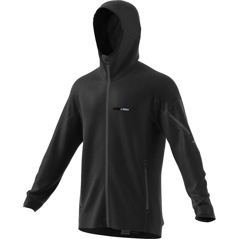 Adidas Men's Terrex Climaheat Ultimate Fleece Jacket - Small - Black