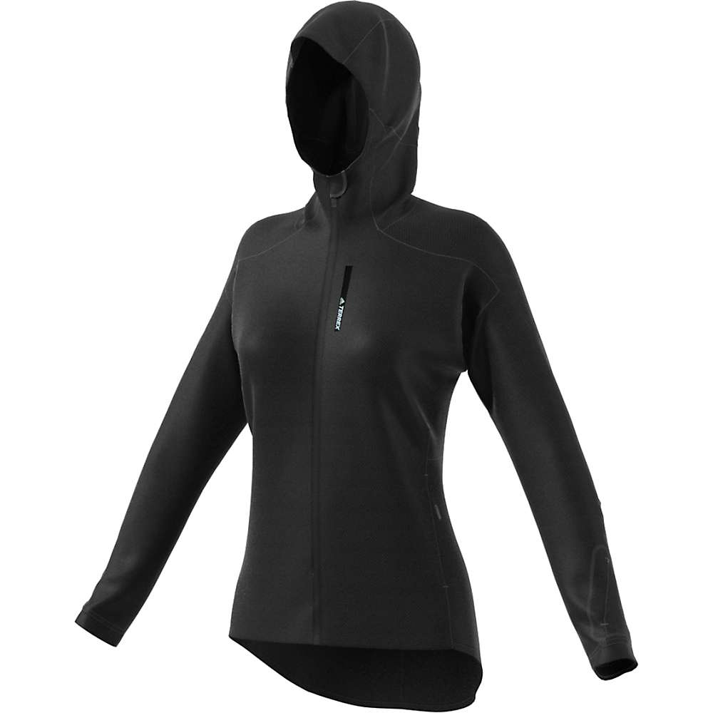 Adidas Women's Terrex Climaheat Ultimate Fleece Jacket - Small - Black