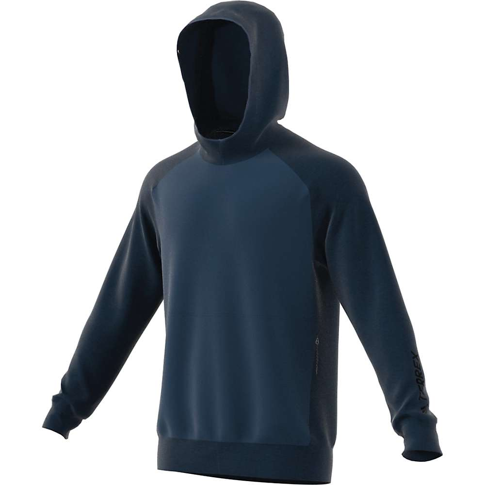 Adidas Men's Terrex Climb The City Wool Hoodie - Medium - Blue Night