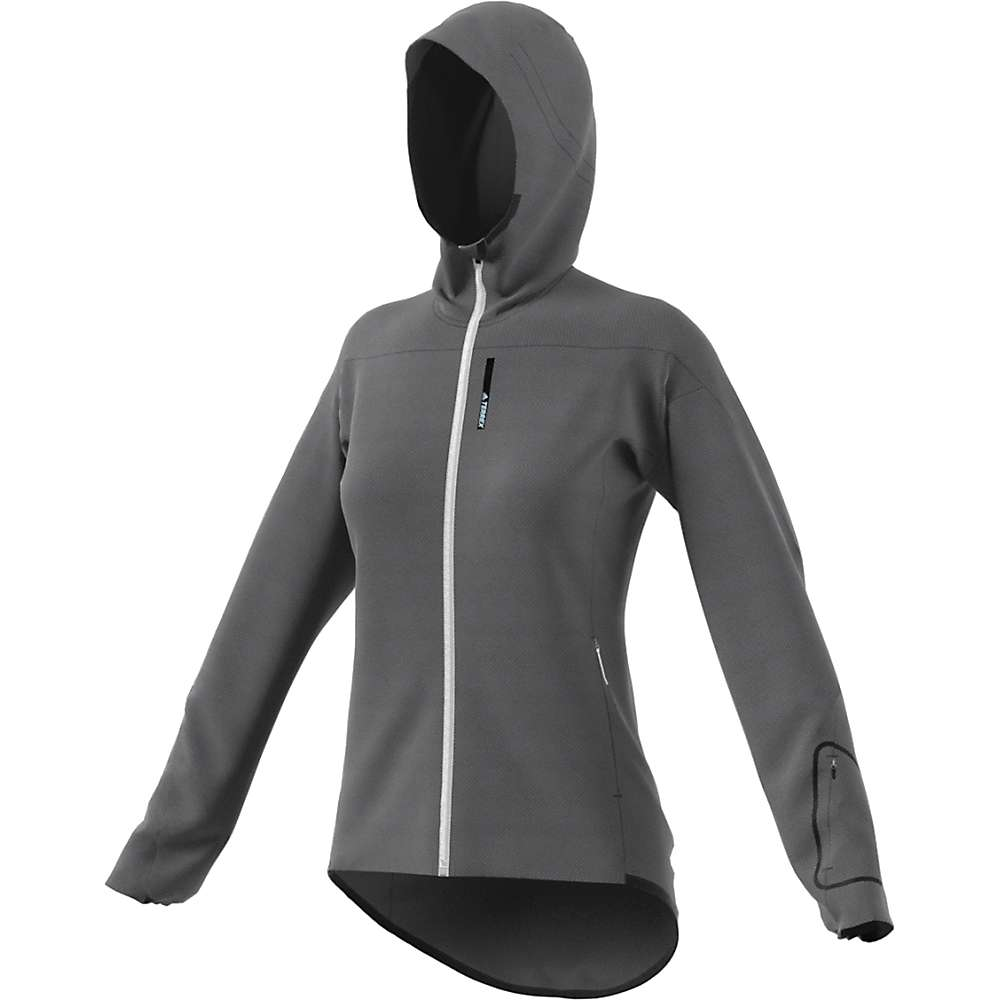Adidas Women's Terrex Radical Fleece Jacket - Large - Grey Five