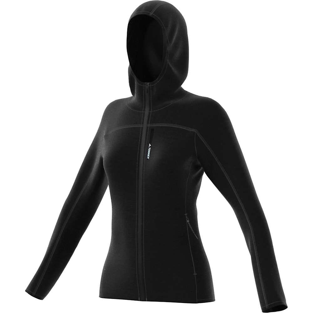 Adidas Women's Terrex Tracerocker Hooded Fleece Jacket - Small - Black