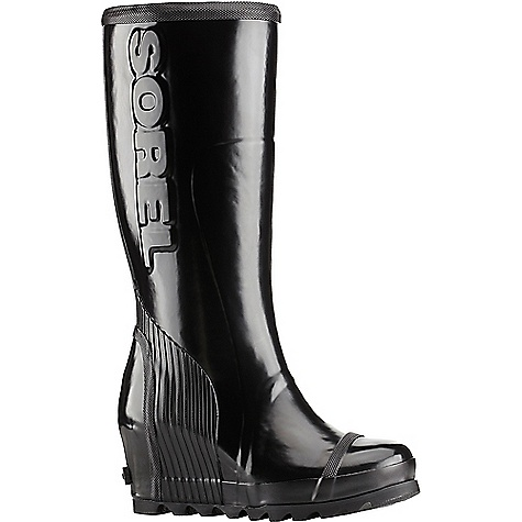 Sorel Women's Joan Rain Wedge Tall Gloss Boot