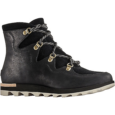 Sorel Women's Sneakchic Alpine Boot Black Sorel Women's Sneakchic Alpine Boot - Black - in stock now. FEATURES of the Sorel Women's Sneakchic Alpine Boot Upper: Waterproof full-grain and suede leather Canvas and synthetic lining Footbed: Die cut memory EVA footbed, microfleece topcover Midsole: Die cut and buff EVA Outsole: Molded rubber outsole