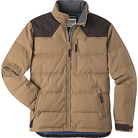 Mountain Khakis Men's Outlaw Down Jacket Tobacco Mountain Khakis Men's Outlaw Down Jacket - Tobacco - in stock now. FEATURES of the Mountain Khakis Men's Outlaw Down Jacket 4 Pockets Adjustable hook and loop cults Split tall side hem with reinforced bar-tacklng MK embroidery at back right shoulder