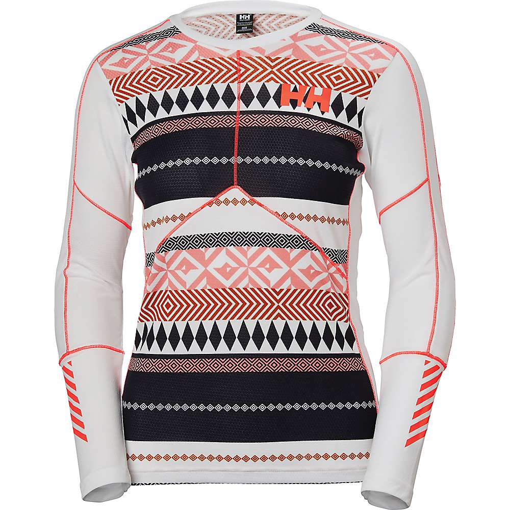 Helly Hansen Women's HH Lifa Active Graphic Crew - Medium - HH White / Urban Stripe Print
