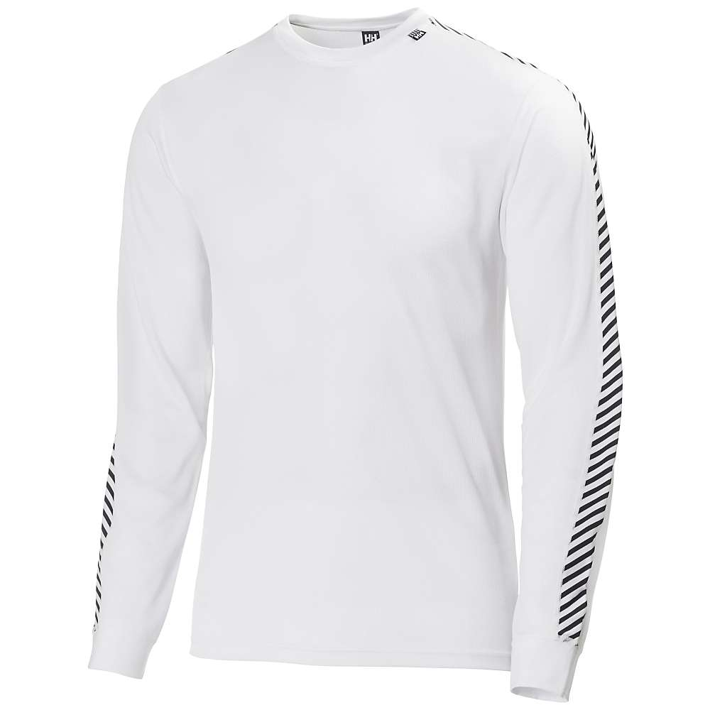 Helly Hansen Men's HH Lifa Stripe Crew Top - Large - White