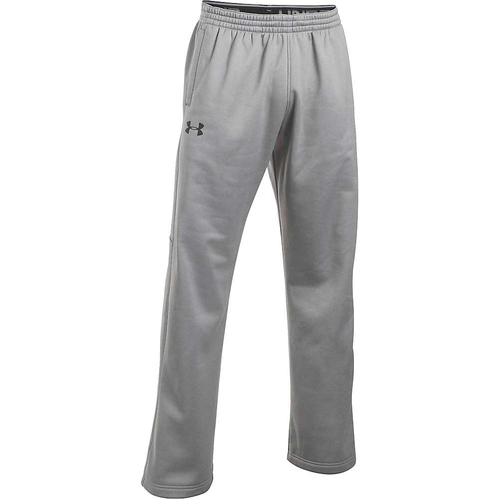 Under Armour Men's UA Storm Armour Fleece Pant - Large - True Grey Heather / True Grey Heather / Black