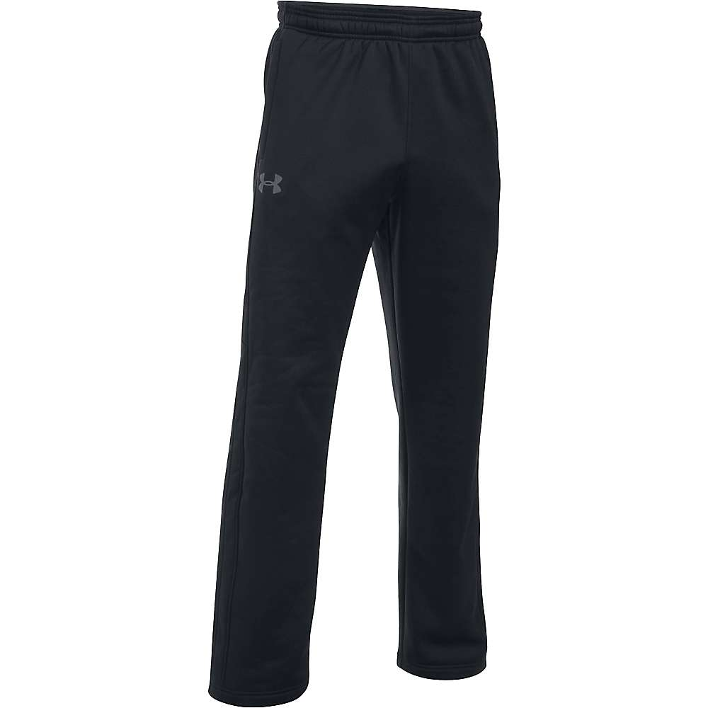 Under Armour Men's UA Storm Armour Fleece Pant - XXL Tall - Black / Black / Stealth Grey