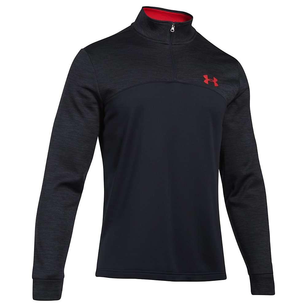 Under Armour Men's UA Armour Fleece 1/4 Zip Top - XL - Black / Black / Red