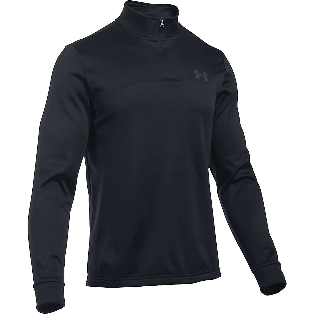 Under Armour Men's UA Armour Fleece 1/4 Zip Top - XL - Black / Stealth Grey