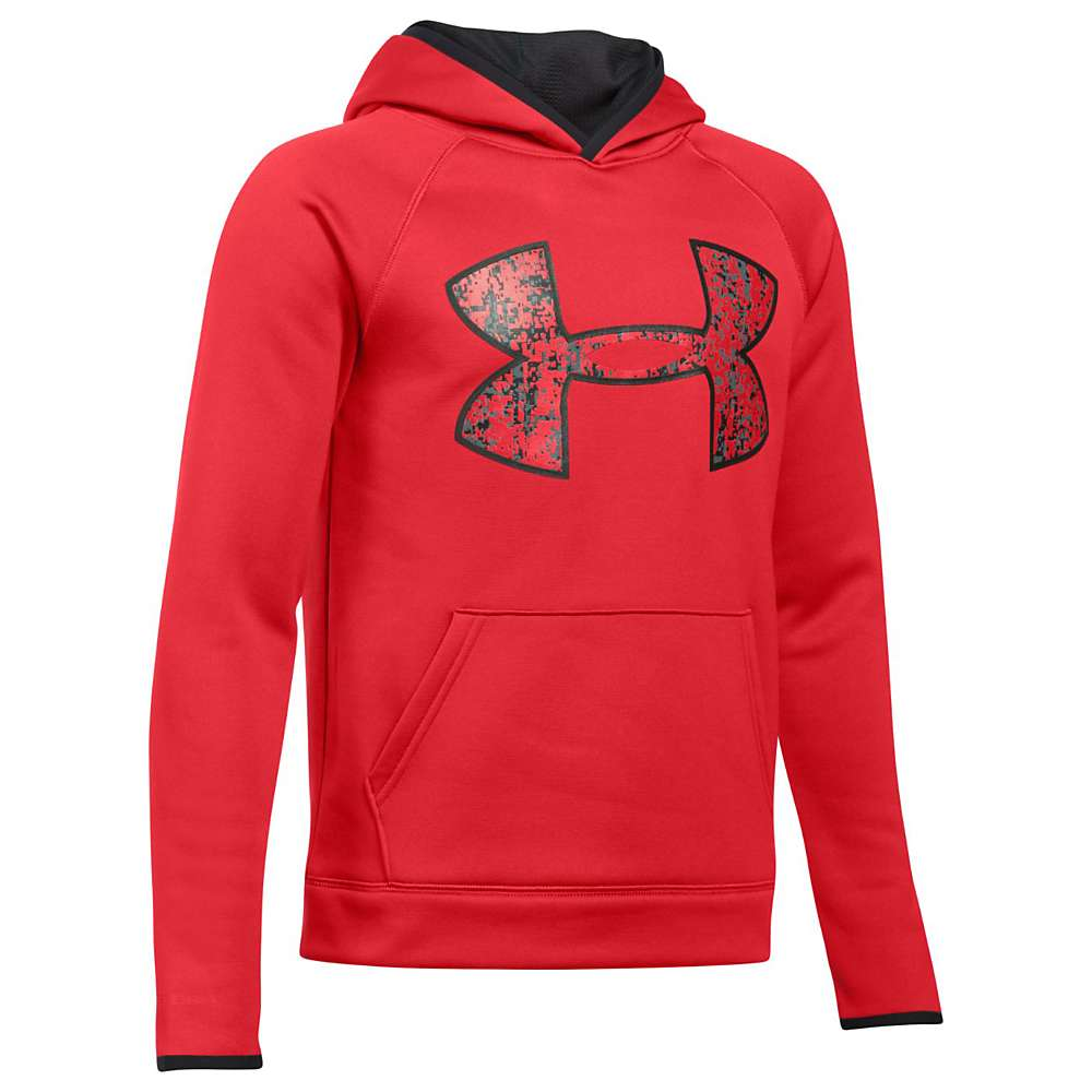 Under Armour Boys' UA Armour Fleece Big Logo Hoodie - Large - Red / Black / Red