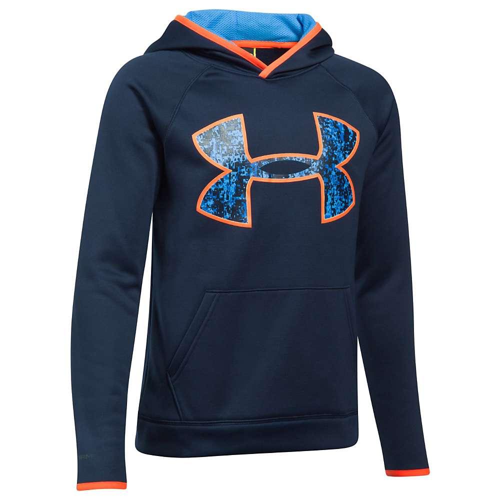 Under Armour Boys' UA Armour Fleece Big Logo Hoodie - XL - Midnight Navy / Mako Blue / Mako Blue