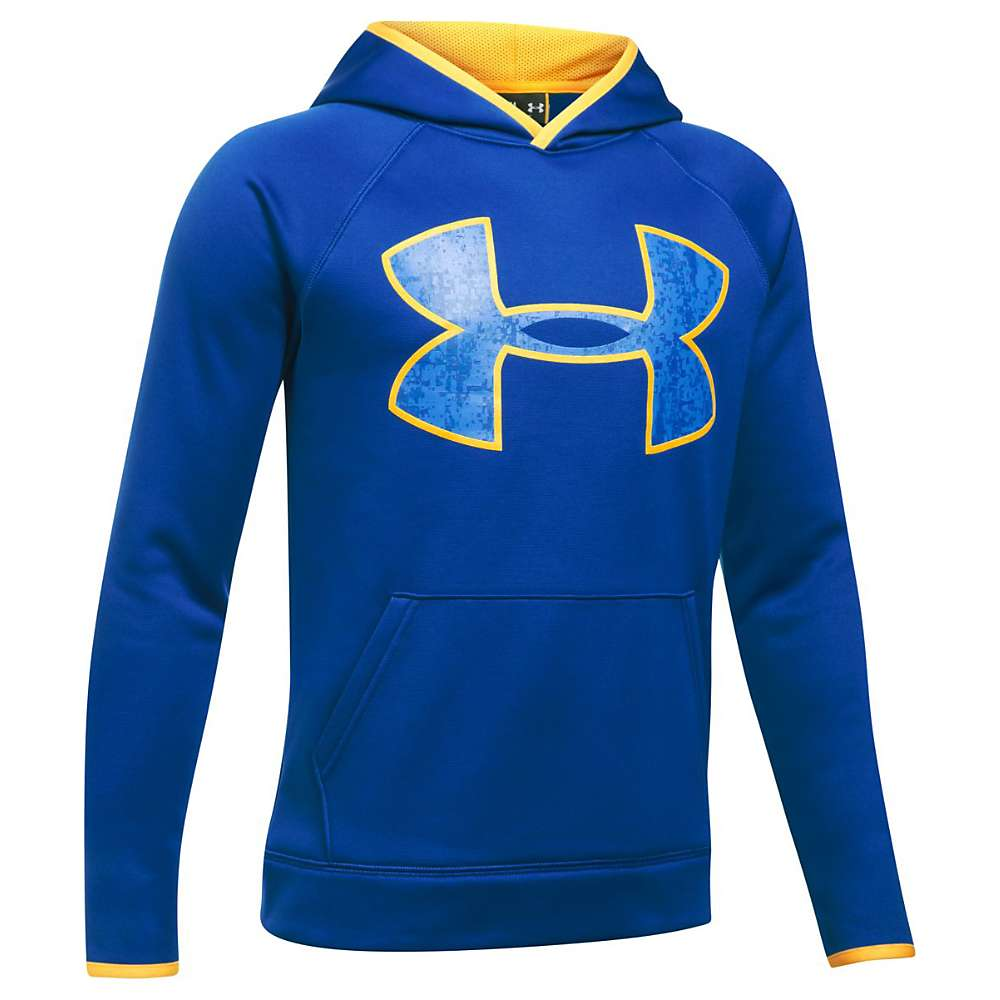 Under Armour Boys' UA Armour Fleece Big Logo Hoodie - XL - Royal / Taxi / Royal