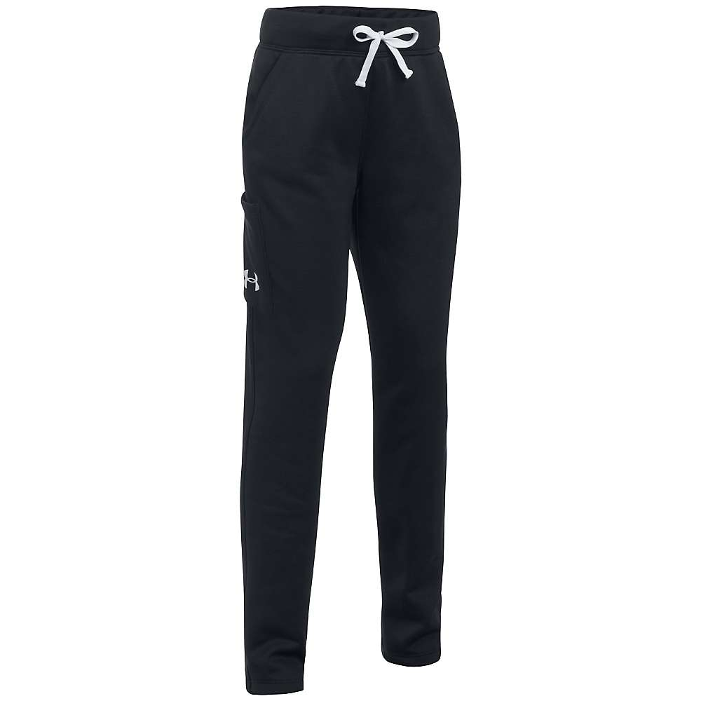 Under Armour Girls' UA Armour Fleece Pant - XL - Black / Black / White