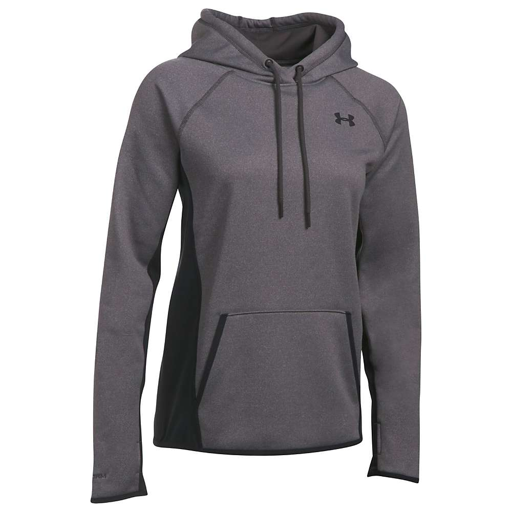 Under Armour Women's UA Armour Fleece Solid Hoodie - Small - Carbon Heather / Black / Black