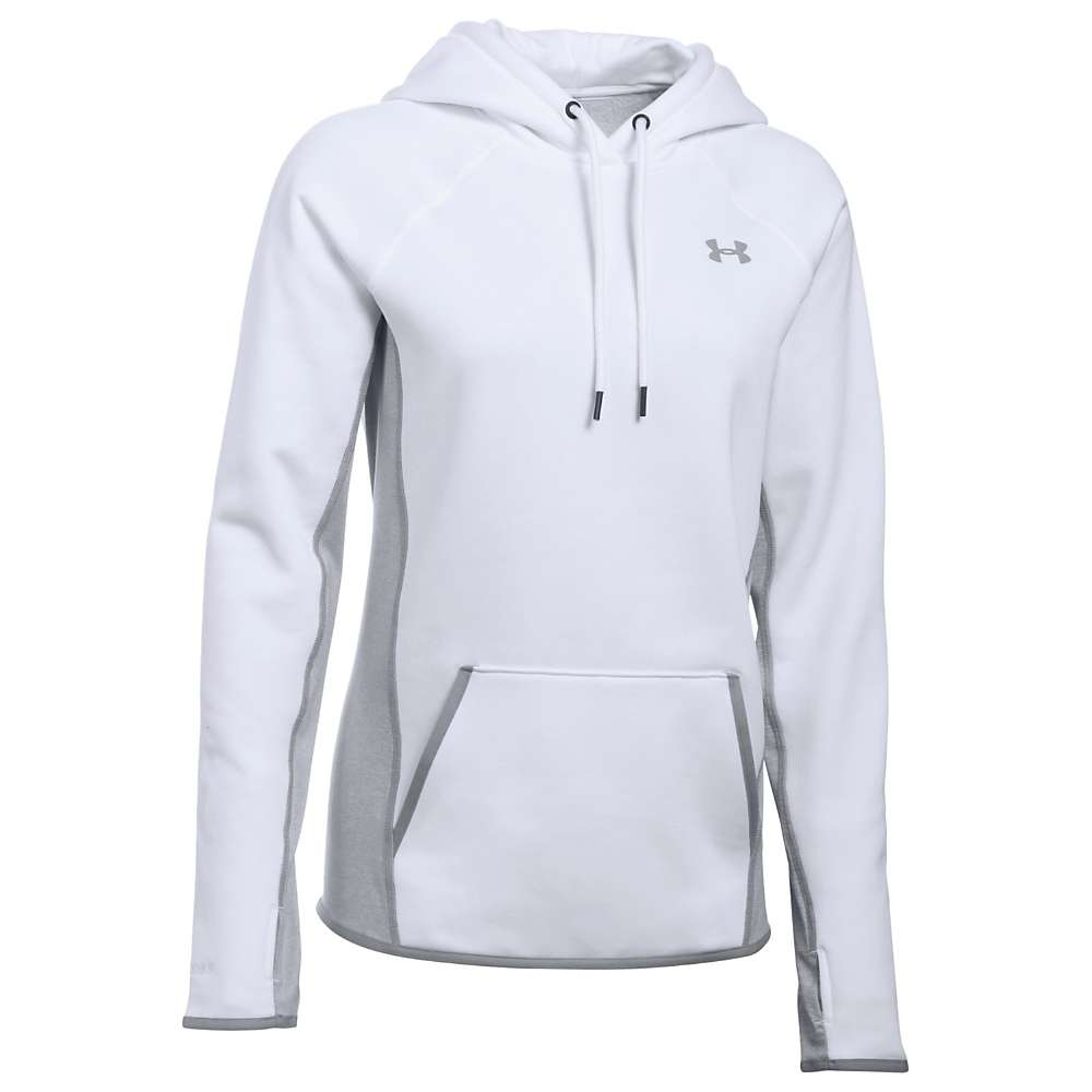 Under Armour Women's UA Armour Fleece Solid Hoodie - Medium - White / Steel / Black