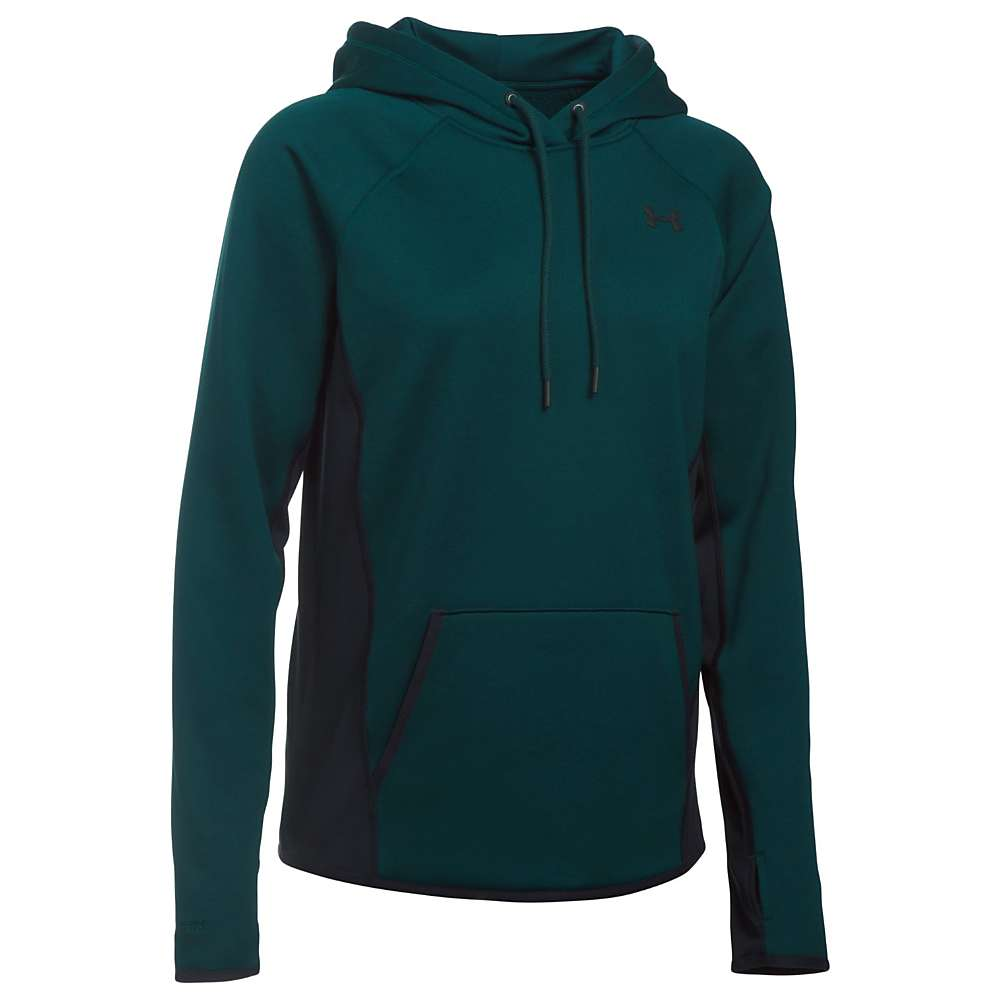 Under Armour Women's UA Armour Fleece Solid Hoodie - Medium - Arden Green / Black / Black