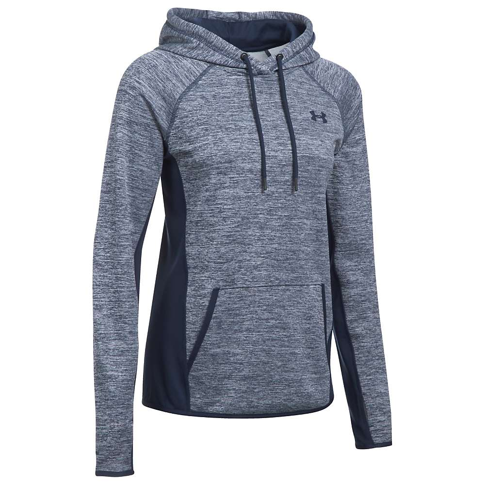 Under Armour Women's UA Armour Fleece Twist Hoodie - Large - Midnight Navy / Midnight Navy / Midnight Navy