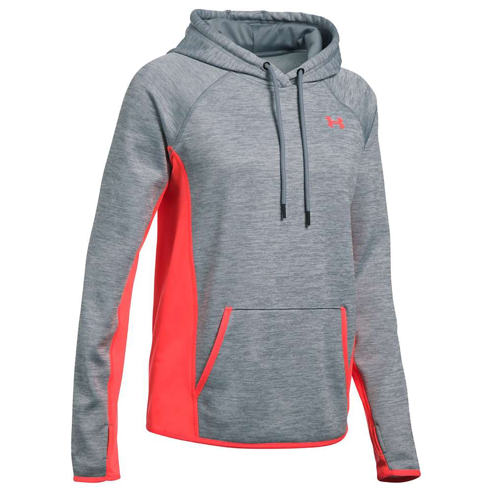Under Armour Women's UA Armour Fleece Twist Hoodie - Small - Steel / Marathon Red / Marathon Red