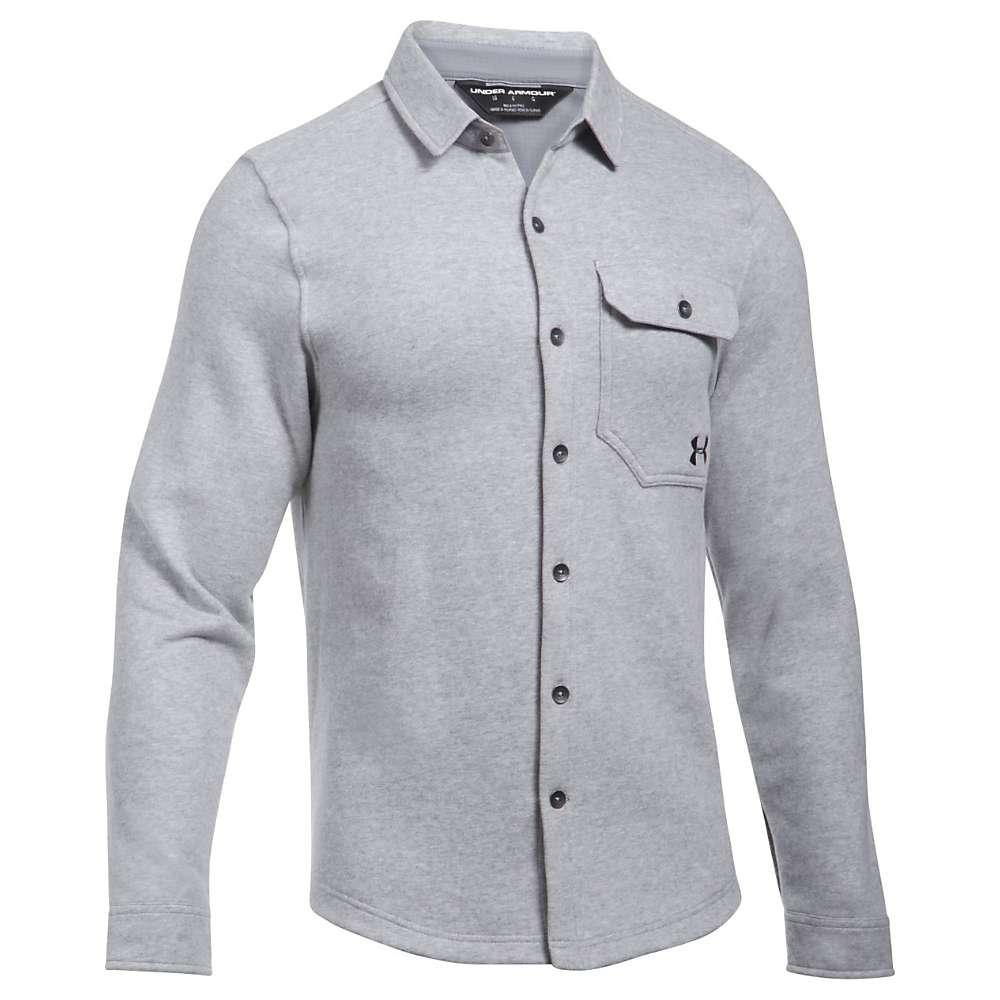 Under Armour Men's UA Buckshot Fleece Shirt - XL - Steel Heather / Stealth Grey