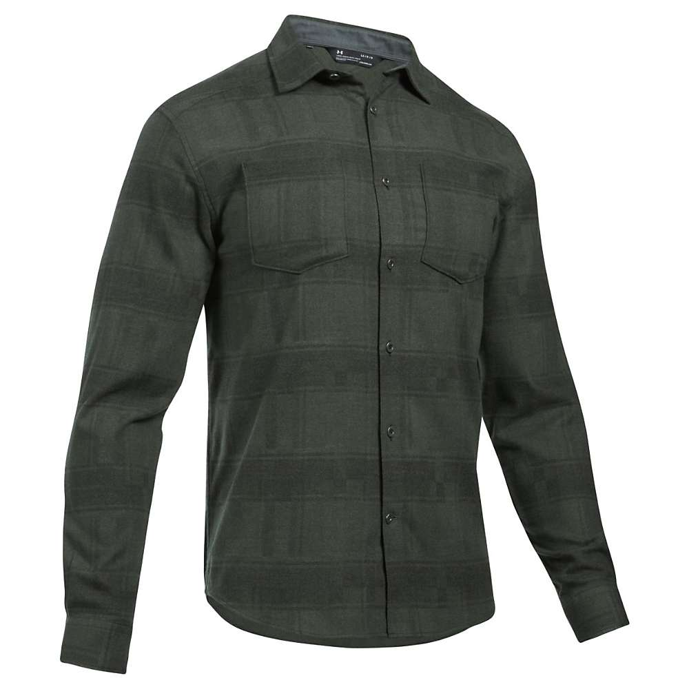 Under Armour Men's UA Borderland STR Flannel Shirt - XL - Artillery Green / Artillery Green