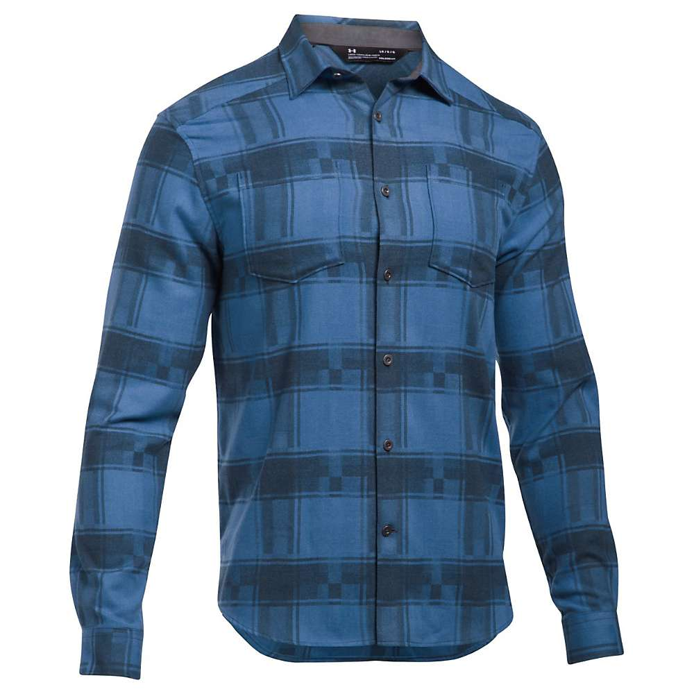Under Armour Men's UA Borderland STR Flannel Shirt - XXL - Urban Blue / Urban Blue