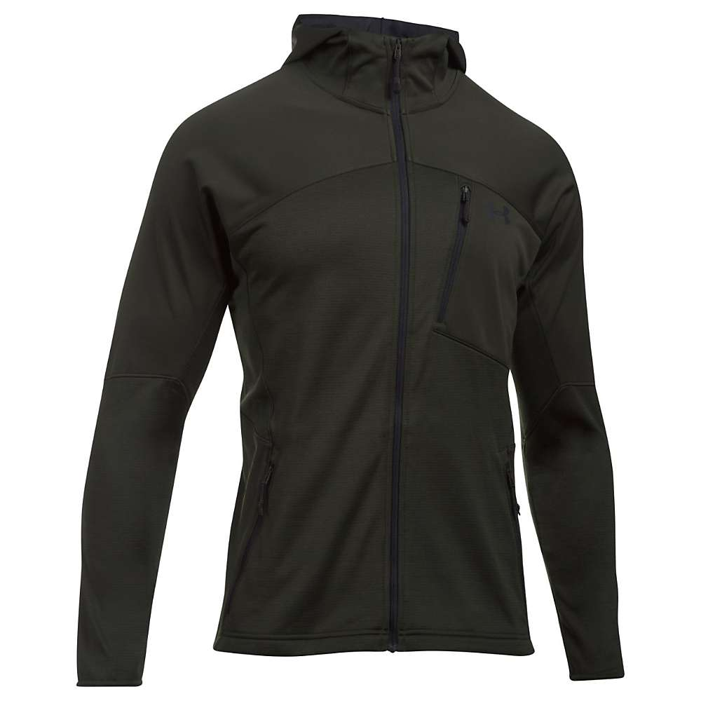 Under Armour Men's UA ColdGear Reactor Fleece Jacket - Small - Artillery Green / Black