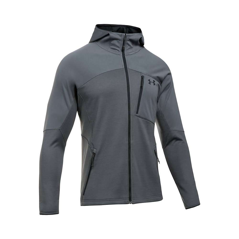 Under Armour Men's UA ColdGear Reactor Fleece Jacket - Large - Rhino Grey / Black