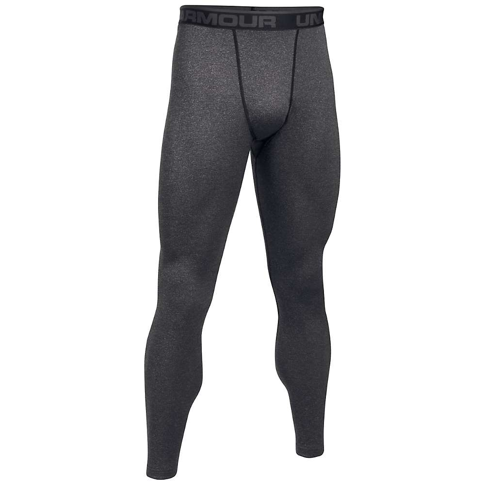 Under Armour Men's UA ColdGear Wool Base Legging - Small - Black / Stealth Grey