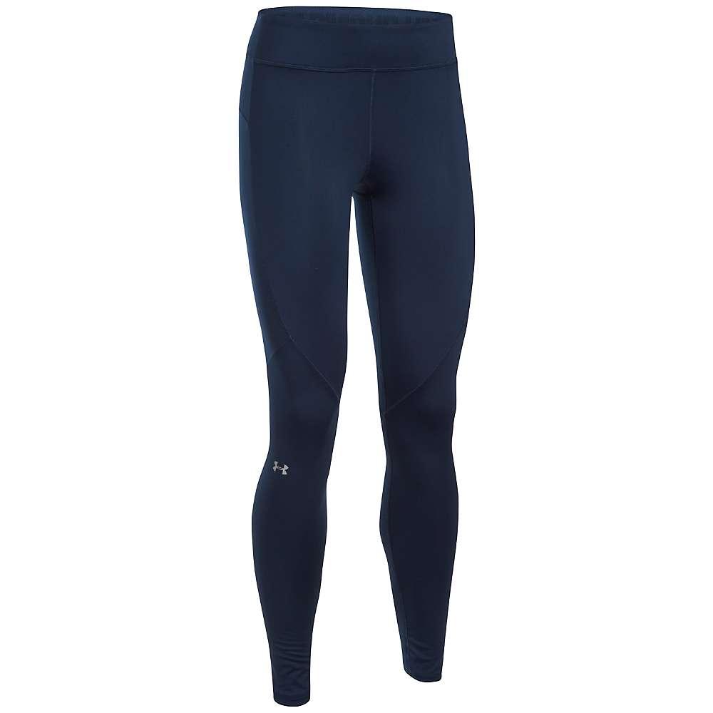 Under Armour Women's UA ColdGear Armour Legging - Medium - Midnight Navy / Metallic Silver