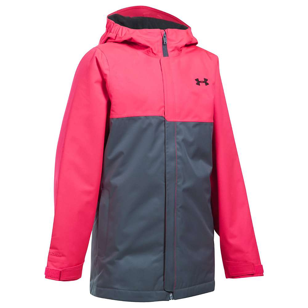 Under Armour Girls' UA Coldgear Infrared Freshies Jacket - Medium - Penta Pink / Apollo Grey / Black