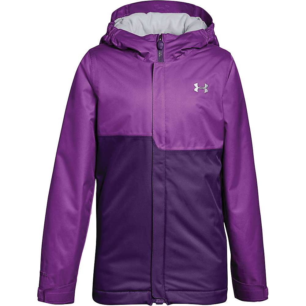 Under Armour Girls' UA Coldgear Infrared Freshies Jacket - Medium - Purple Rave / Indulge / Overcast Grey