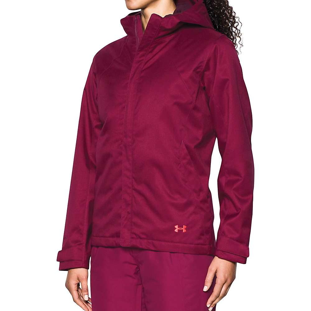 Under Armour Women's UA ColdGear Infrared Sienna 3-In-1 Jacket - Large - Black Currant / Raisin Red / Marathon Red