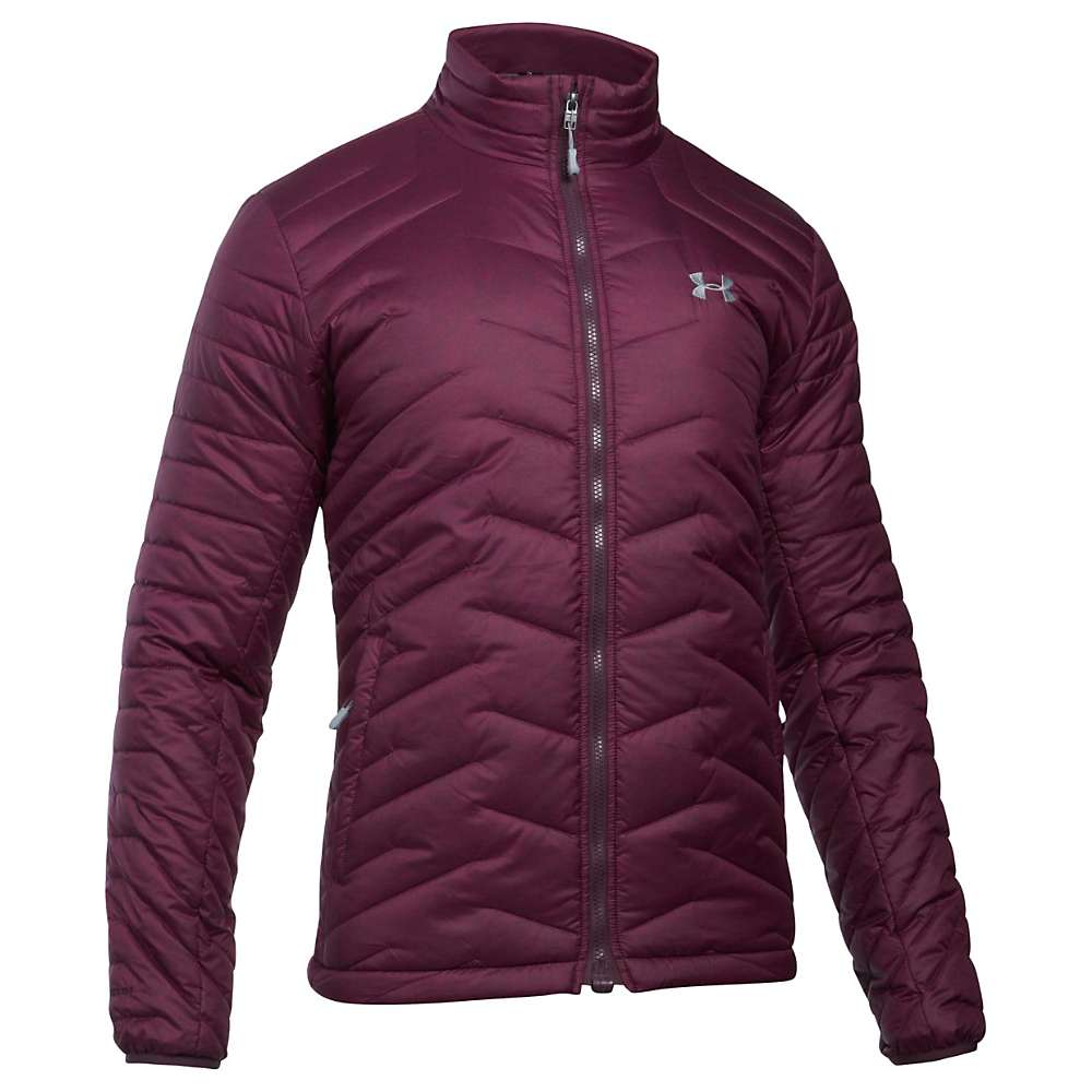 Under Armour Men's UA ColdGear Reactor Jacket - Small - Raisin Red / Rhino Grey / Steel