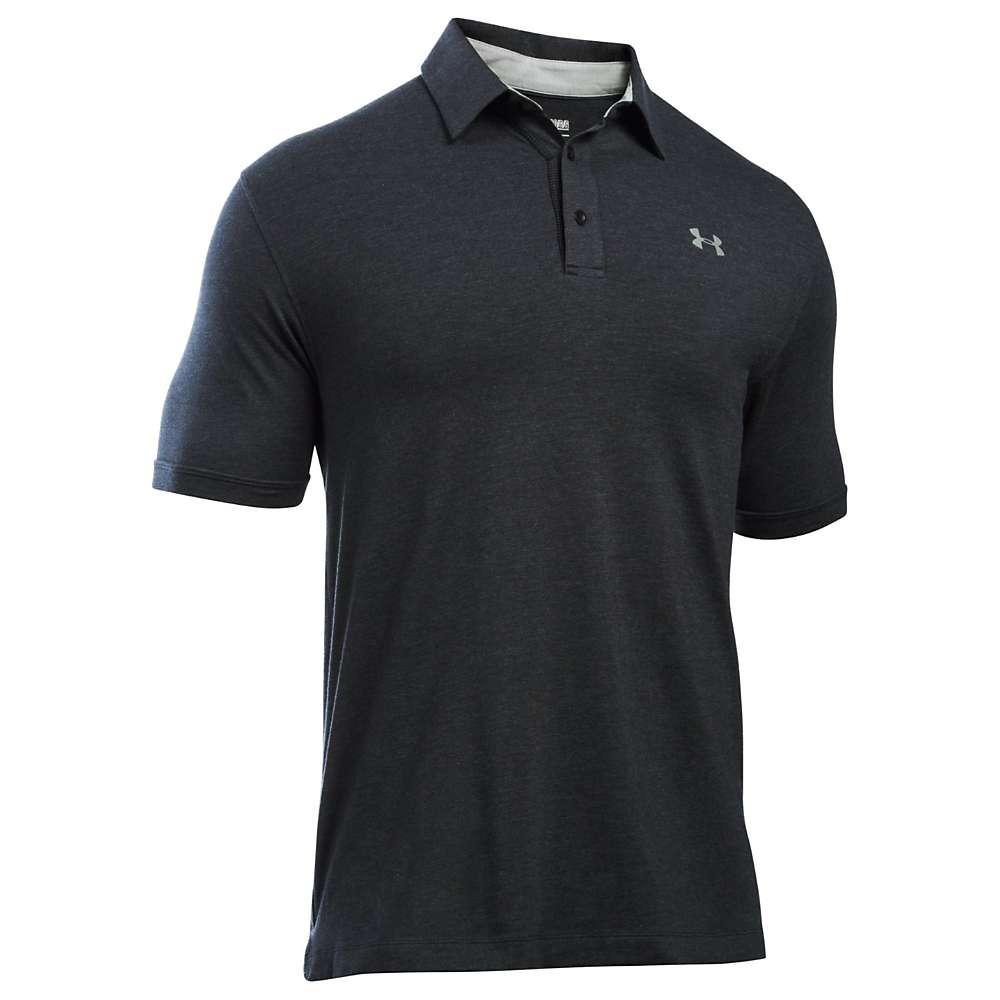 Under Armour Men's UA Charged Cotton Scramble Polo - XL - Black / Black