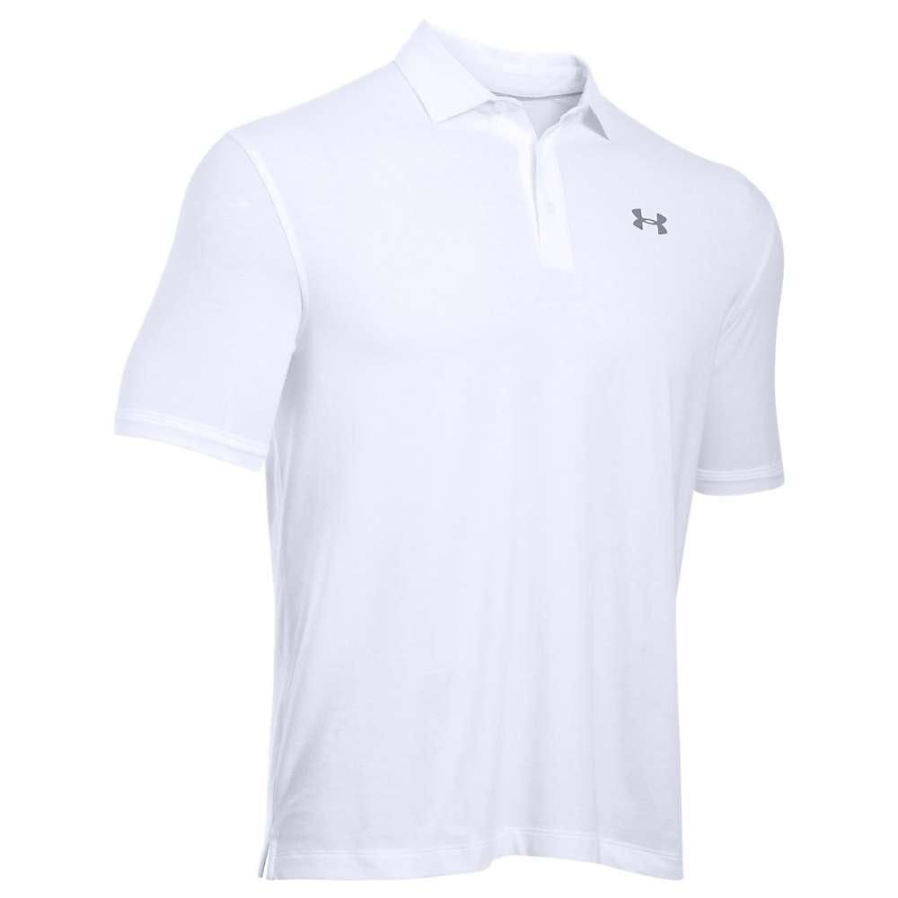 Under Armour Men's UA Charged Cotton Scramble Polo - XL - White / White