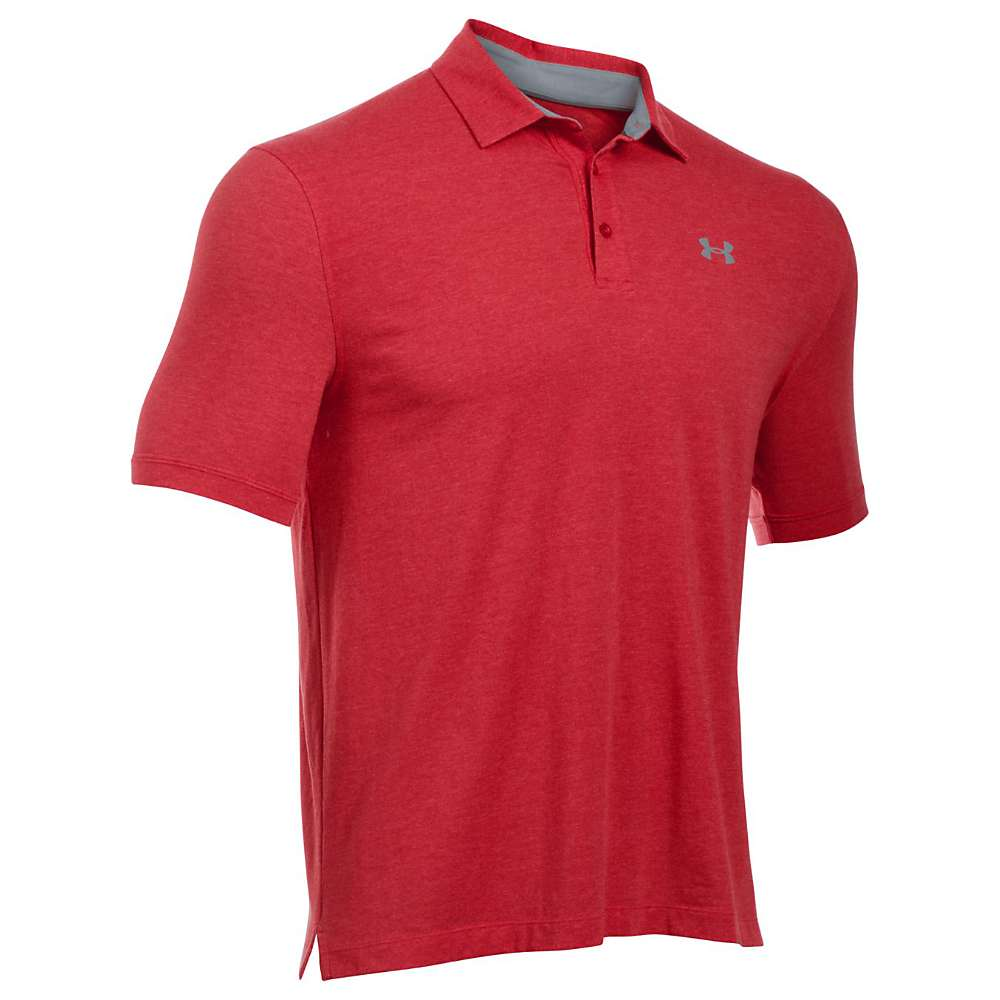Under Armour Men's UA Charged Cotton Scramble Polo - XXL - Red / Red