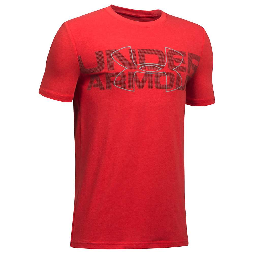Under Armour Boys' Duo Armour SS Tee - Small - Red / Black / Steel