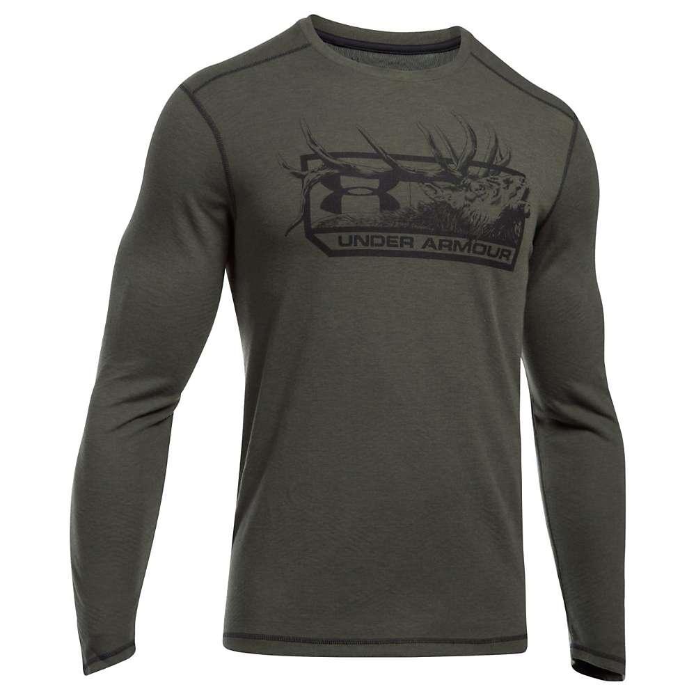 Under Armour Men's UA Elk Pill ColdGear Infrared LS Tee - Medium - Rifle Green Medium Heather / Black