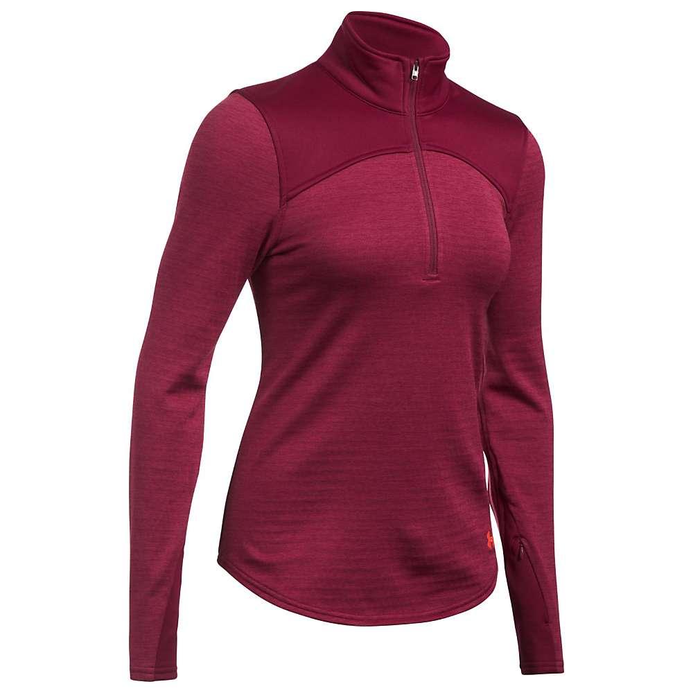 Under Armour Women's UA Expanse 1/4 Zip Top - XL - Black Currant / Black Currant / Marathon Red